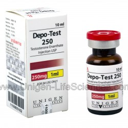 DEPO TEST 250 by UNIGEN LIFE SCIENCES. Testosterone Enanthate
