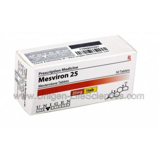 Mesviron 25 - Mesterolone 25mg x 50 tablets by Unigen Life Sciences